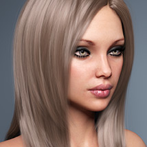 Sanni Hair for Genesis 3 and 8 Females image 1