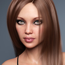 Sanni Hair for Genesis 3 and 8 Females image 2