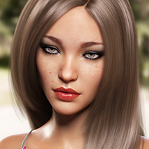 Sanni Hair for Genesis 3 and 8 Females image 4