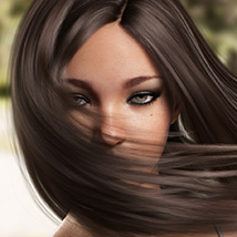 Sanni Hair for Genesis 3 and 8 Females image 5