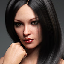 Sanni Hair for Genesis 3 and 8 Females image 10