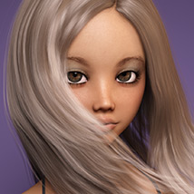 Sanni Hair for Genesis 3 and 8 Females image 11