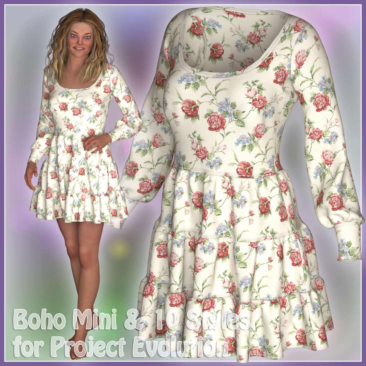 Boho Mini Dress for PE - Poser