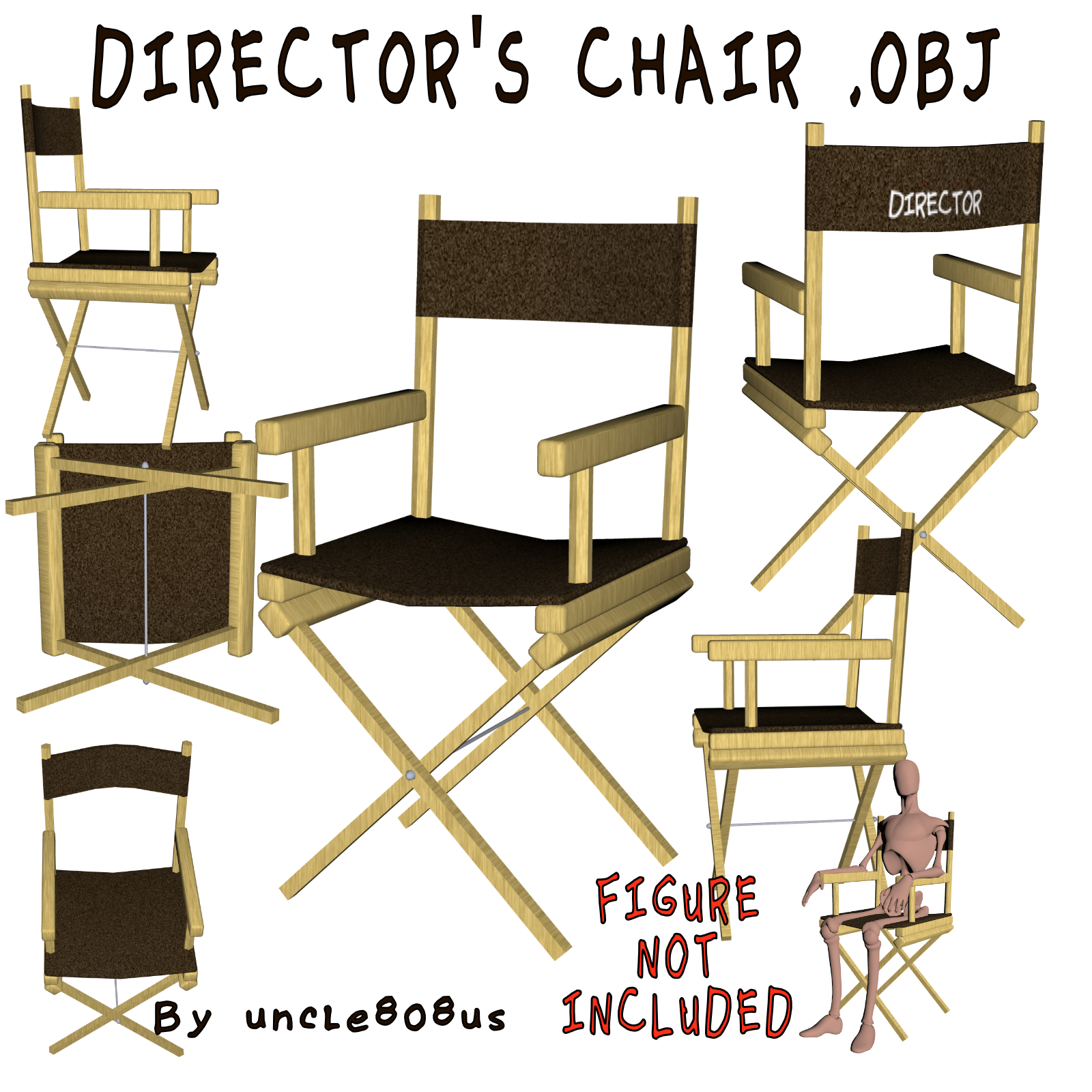 sunbrella flat chair director stick black cover directors replacement