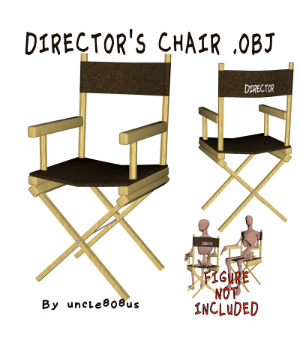 Director's Chair 3D Object 3D Models uncle808us