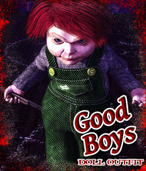 Good Boys Doll Outfit for The Baby for G8 3D Figure Assets sixus1