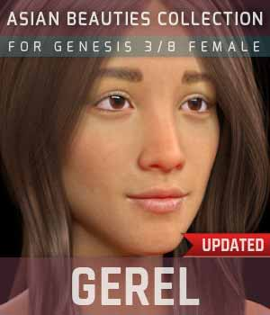Gerel G3G8F for Genesis 3 and 8 Female 3D Figure Assets gravureboxing