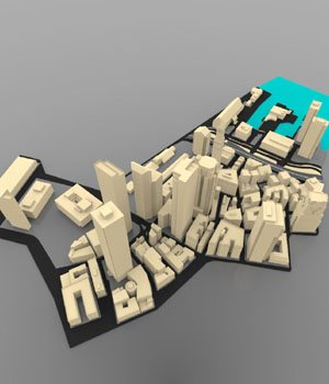 Boston Cityscape (3ds/ obj) - Extended License 3D Models Digimation_ModelBank