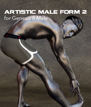 Artistic Male Form 2 for Genesis 8 Male 3D Figure Assets P7ArtJ5