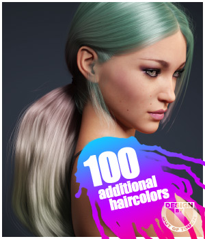 Sleek Ponytail Hair Texture XPansion 3D Figure Assets outoftouch
