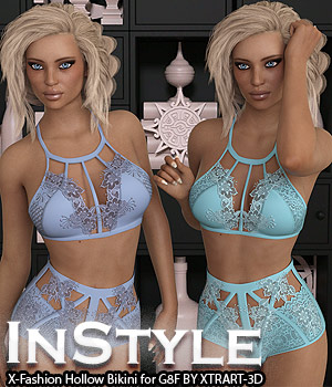 InStyle - X-Fashion Wedding Night Lingerie 3D Figure Assets -Valkyrie-
