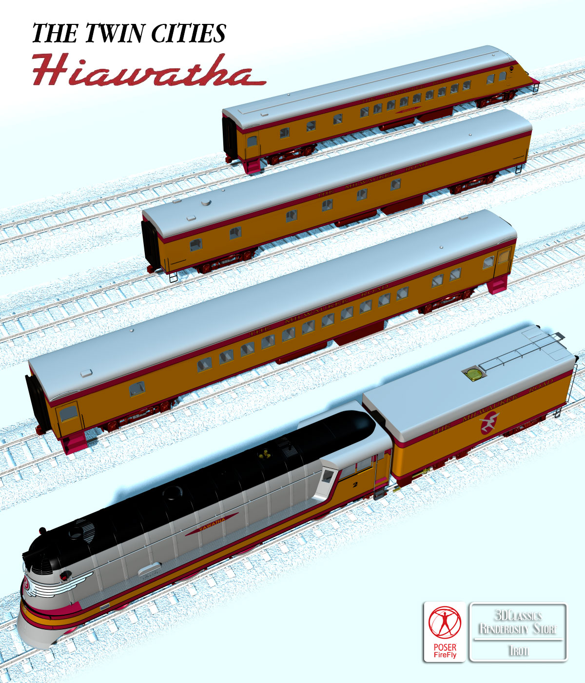 HIAWATHA TRAIN OBJ FBX - EXTENDED LICENSE