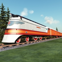 HIAWATHA TRAIN OBJ FBX - EXTENDED LICENSE image 1