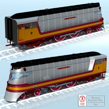 HIAWATHA TRAIN OBJ FBX - EXTENDED LICENSE image 2