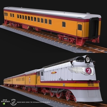 HIAWATHA TRAIN OBJ FBX - EXTENDED LICENSE image 7