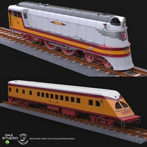 HIAWATHA TRAIN OBJ FBX - EXTENDED LICENSE image 8