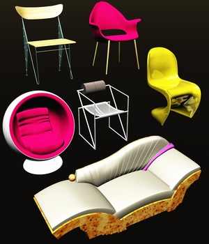 FAMOUS SEATS BUNDLE2 FOR VUE 3D Models 3DClassics