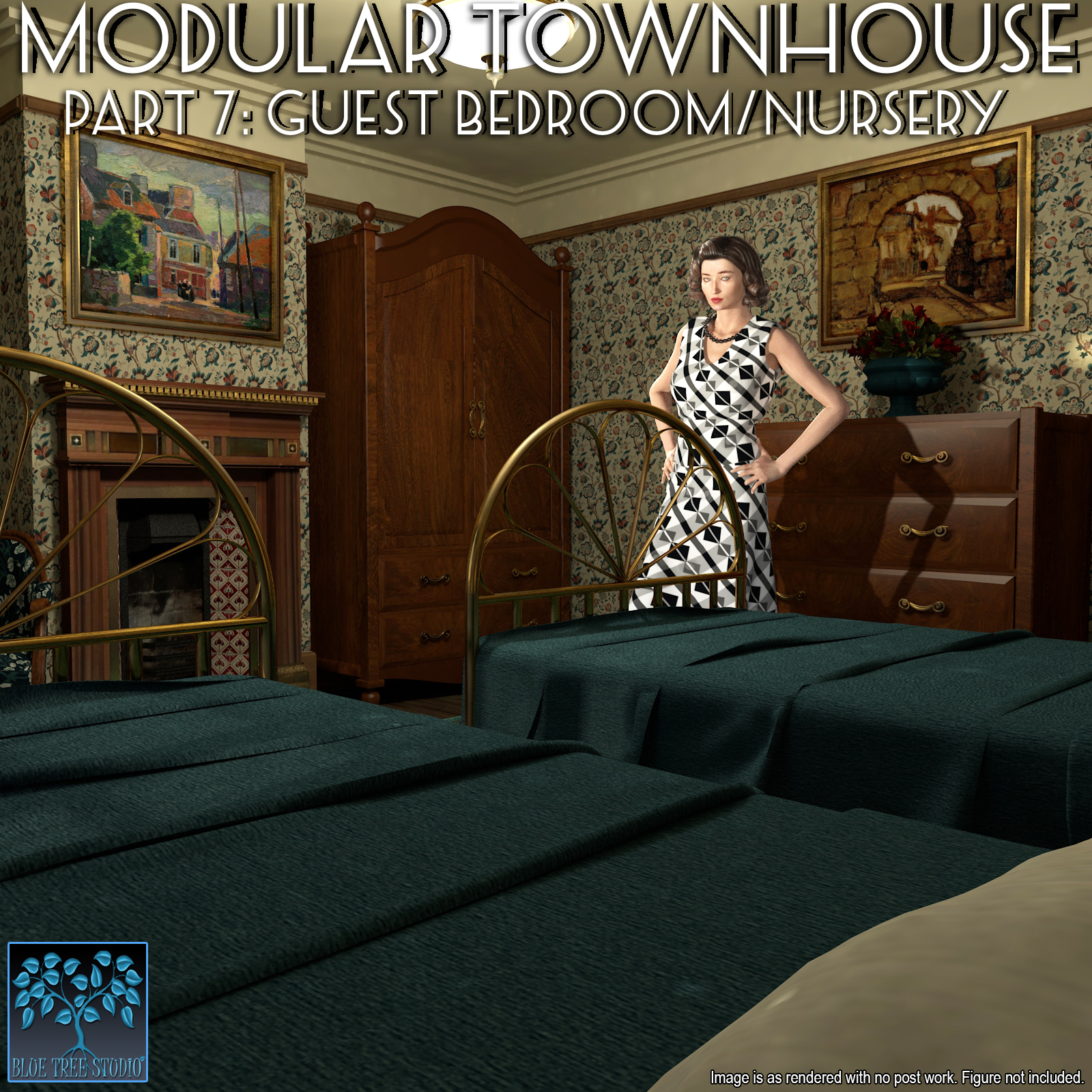 Modular Townhouse 7: Guest Bedroom and Nursery for Poser by BlueTreeStudio