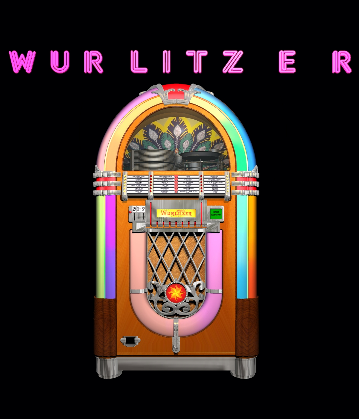 WURLITZER 1015 JUKEBOX FOR VUE 3D Models 3DClassics