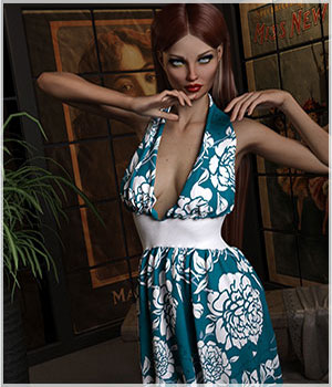 Feminine For dForce Genevieve Dress 3D Figure Assets Belladzines