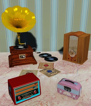 RADIO BUNDLE OBJ FBX - EXTENDED LICENSE 3D Game Models : OBJ : FBX 3D Models Extended Licenses 3DClassics