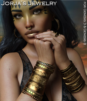 Jorja's Jewelry for the G3 and G8 Females 3D Figure Assets Rhiannon