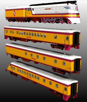 HIAWATHA TRAIN for Poser 3D Models 3DClassics