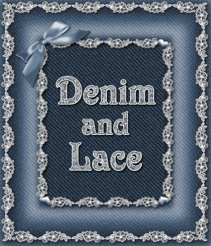Denim and Lace PS Layer Styles 2D Graphics Merchant Resources fractalartist01