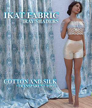 Ikat Fabric :: Daz IRAY Shaders 2D Graphics 3D Figure Assets Merchant Resources Cyrax3D
