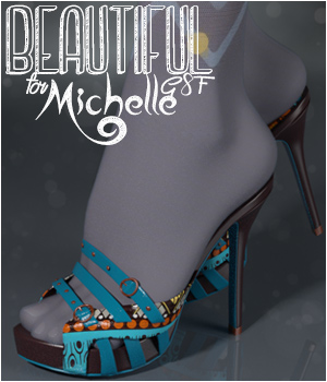 Beautiful Michelle Heels G8F 3D Figure Assets alexaana