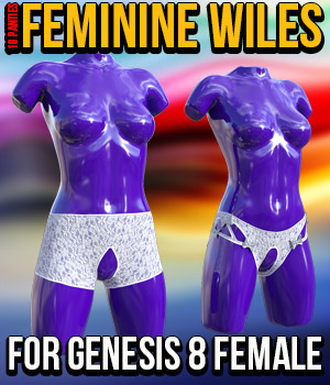 Feminine Wiles for G8F 3D Figure Assets powerage