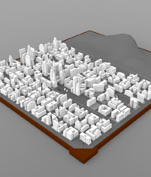 City Skyline - 3ds, obj - Extended License 3D Models Digimation_ModelBank