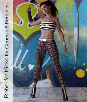 Rebel for Kicks - Outfit for Genesis 8 Females Daz Studio 3D Figure Assets ArtTailor