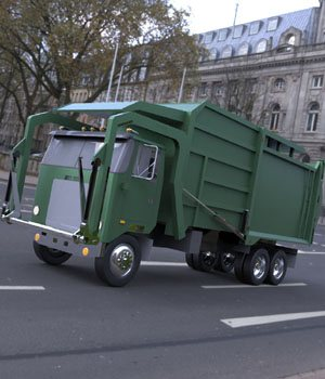 Garbage Truck 2 - 3ds / obj - Extended License 3D Game Models : OBJ : FBX 3D Models Extended Licenses Digimation_ModelBank