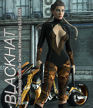 BLACKHAT - Impulsive Outfit for Genesis 8 Females 3D Figure Assets Anagord