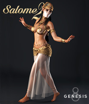 Salome II for Genesis 8 Female by Val3dArt