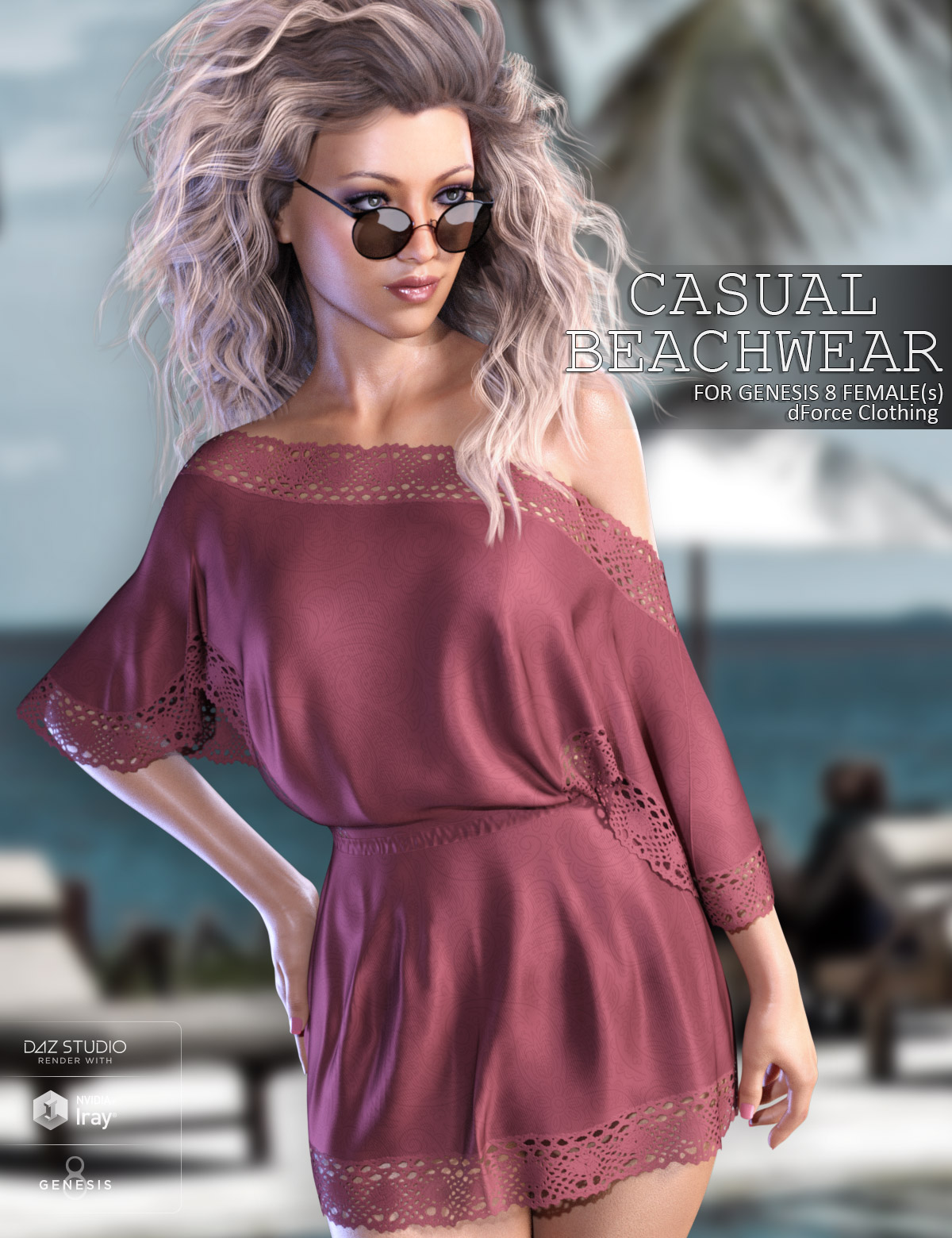dForce Casual Beachwear for Genesis 8 Females