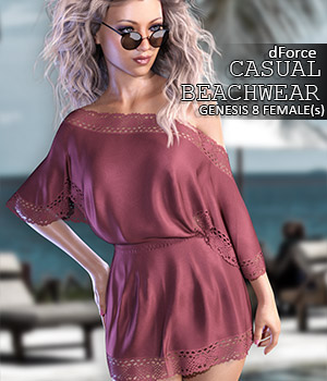 dForce Casual Beachwear for Genesis 8 Females by lilflame