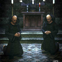 Cloisters of Darkness: Monk Robes for Genesis 8 Male image 5