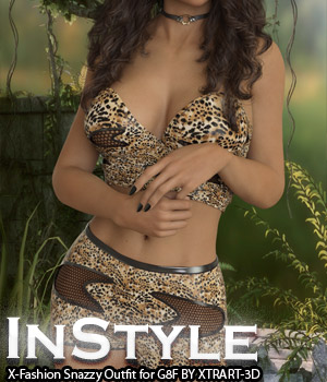 InStyle - X-Fashion Snazzy Outfit for Genesis 8 Female 3D Figure Assets -Valkyrie-