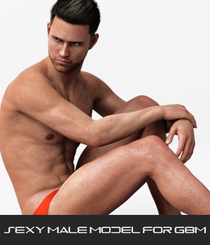 Sexy Male Model for G8M 3D Figure Assets P7ArtJ5