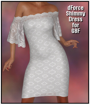 dForce - Shimmy Dress for G8F 3D Figure Assets Lully