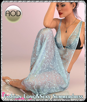 Fashion Long&Sexy Summerdress G3/G8 3D Figure Assets ArtOfDreams