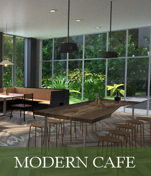 Modern Cafe 3D Models TruForm