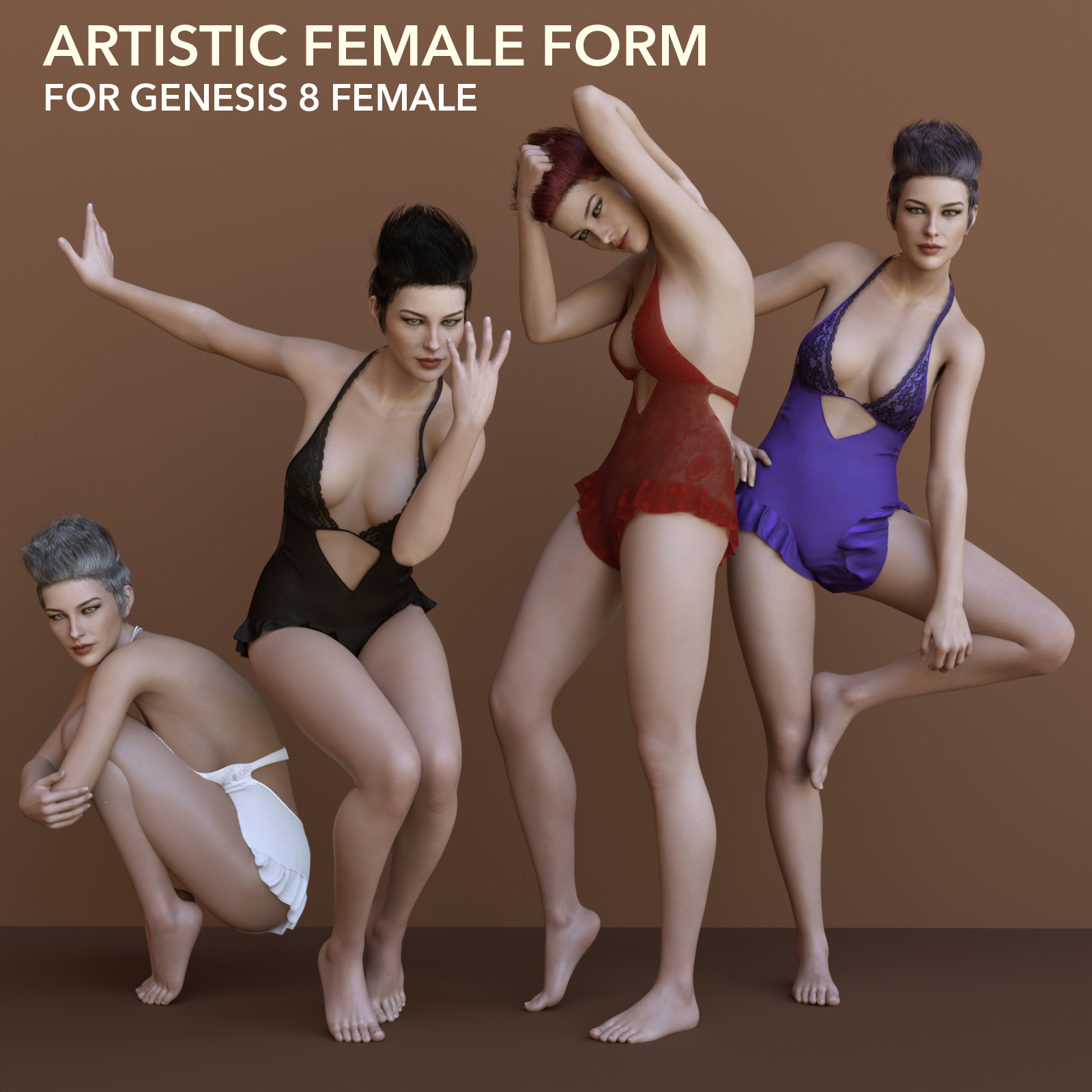 Artistic Female Form for Genesis 8 Female