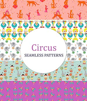 Circus - Seamless Patterns 2D Graphics Merchant Resources romawka