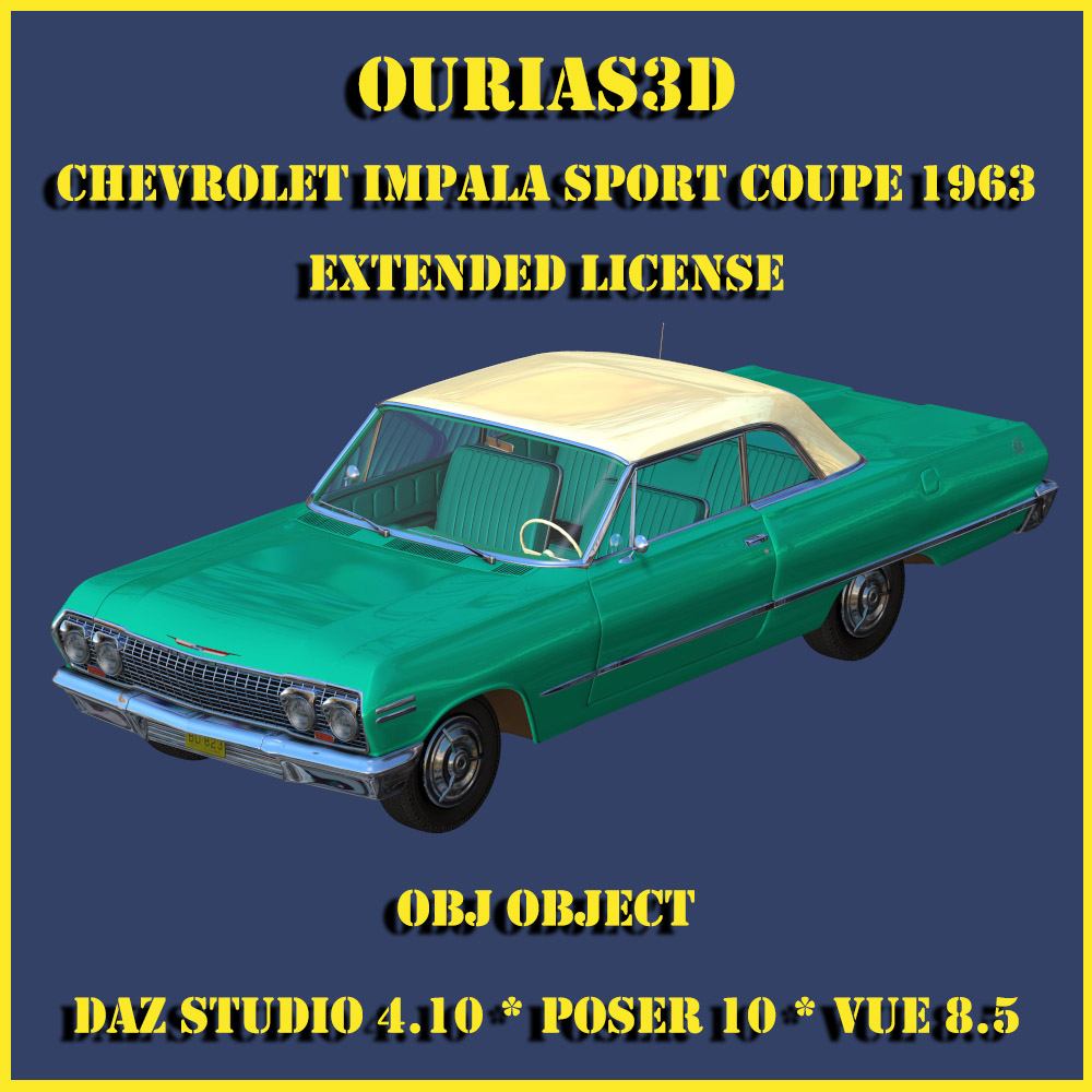 Chevrolet Impala Sport Coupe 1963 - Extended license