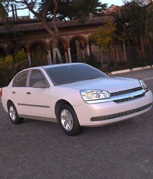 Chevrolet Malibu 2005 - 3ds and obj - Extended License 3D Game Models : OBJ : FBX 3D Models Extended Licenses Digimation_ModelBank