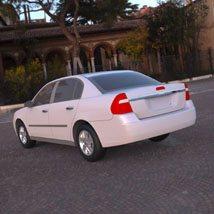 Chevrolet Malibu 2005 - 3ds and obj - Extended License image 1