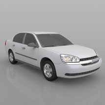 Chevrolet Malibu 2005 - 3ds and obj - Extended License image 3